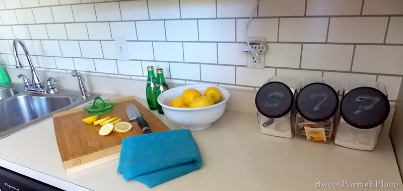 subway tile painted backsplash kitchen