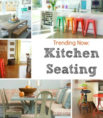 Trendy Colorful Kitchen Seating