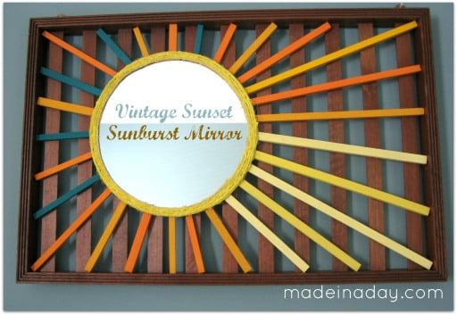 diy vintage sunset starburst mirror