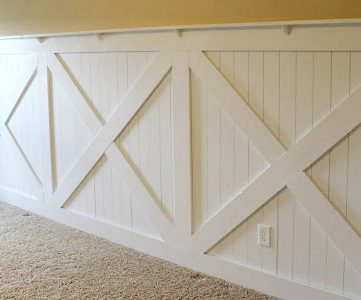 DIY Barn Door Wainscoting Tutorial