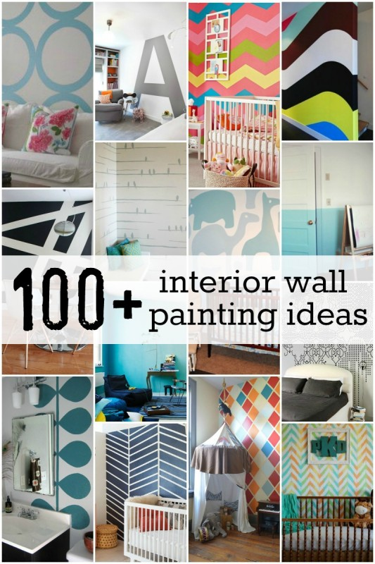 100 interior wall painting ideas at Remodelaholic.com #painting #walls  #design #