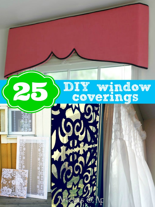 DIY Window Coverings 25 DIY Window Covering Ideas From Remodelaholic.com #  Windows #curtains