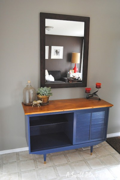 A Swell Place To Dwell, midcenturymodern sideboard update