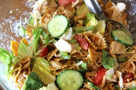 Bowtie Chicken Caesar Salad Recipe-5