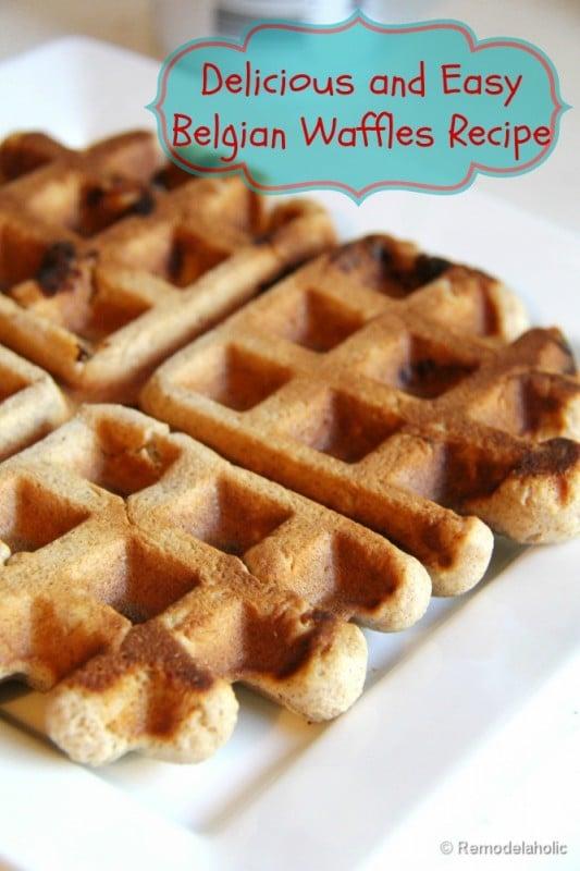 Fast Belgian Waffles Recipe-5a