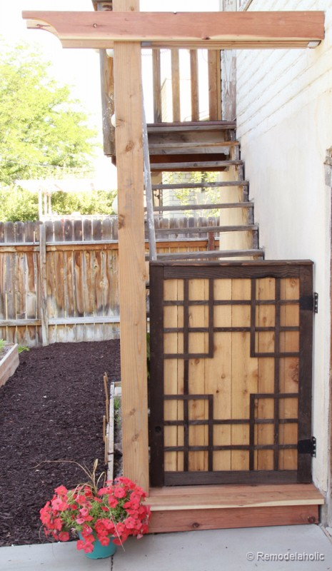 Free Baby gate plans Free Pet gate plans outdoor project-5