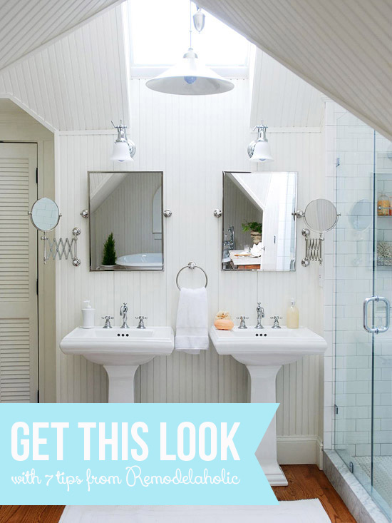 New Get This Look Bright White Double Vanity Bath