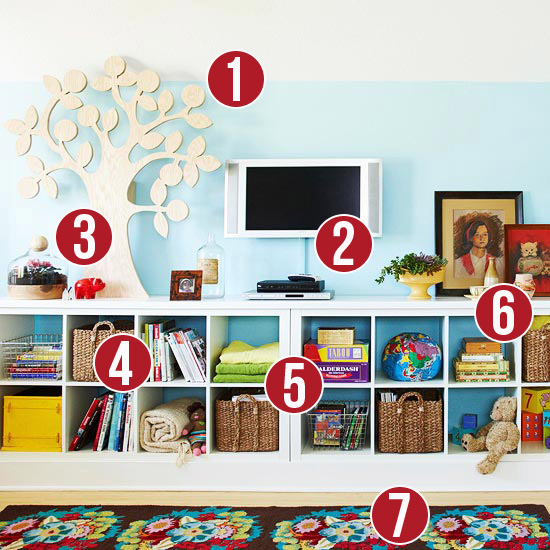 Get This Look - Colorful Cubbies for an Organized Family - 7 tips from Remodelaholic