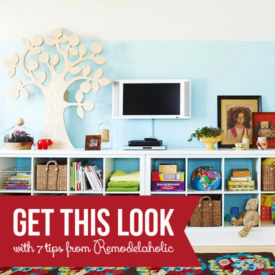 Get This Look - Colorful Cubbies for an Organized Family