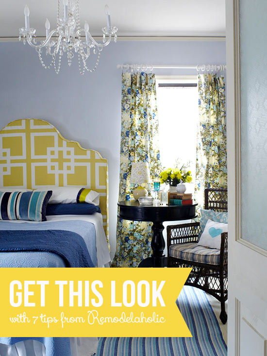 Get This Look - Patterned Master Bedroom