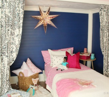 Etta's Pink and Navy Bed Nook