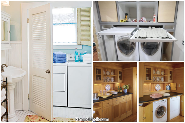 Small Laundry Room Ideas, A Collection From Remodelaholic