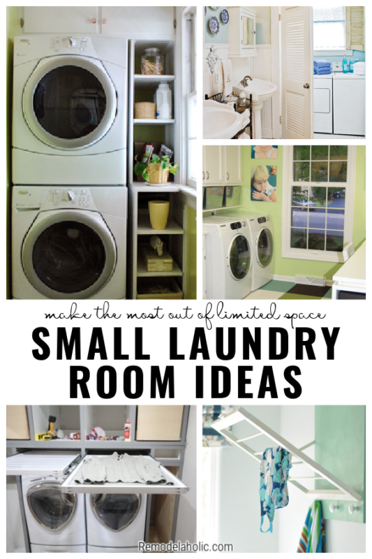 Small Laundry Room Ideas, A Collection On Remodelaholic