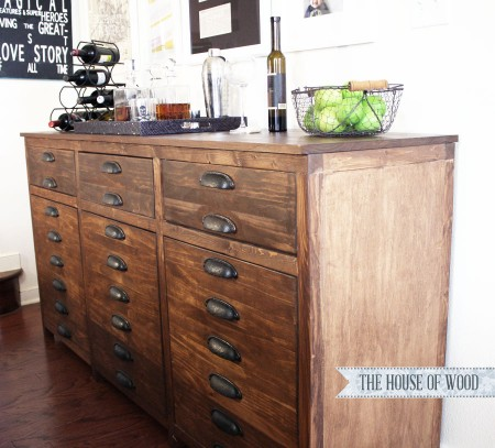 The House of Wood, bar cabinet sideboard - Floating Sideboard DIY Remodelaholic