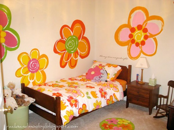 big-girl-room-with-hand-painted-flowers