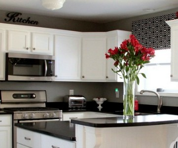 black and white kitchen remodel feature