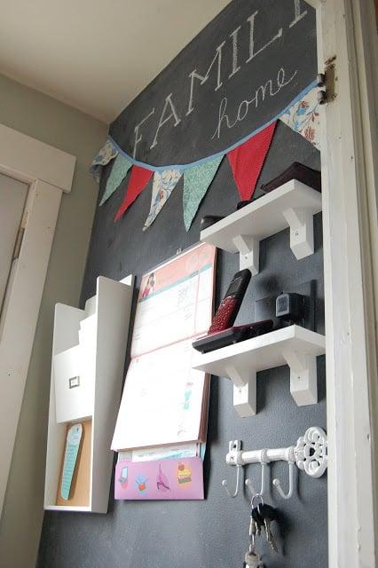 chalkboard hallway command center, Vintage Violet Style
