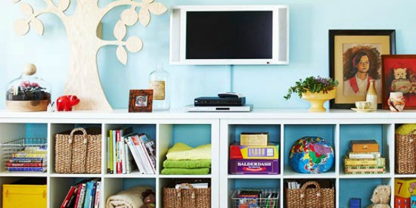 colorful cubbies for the family feature