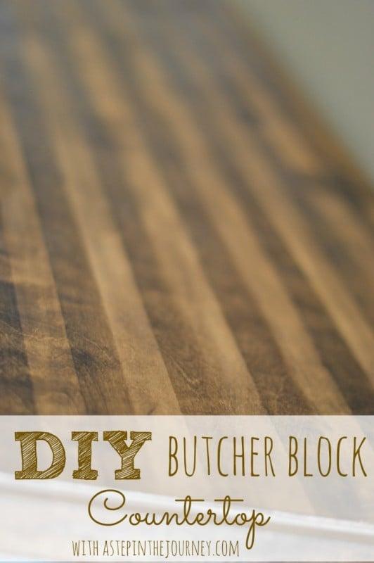 diy butcher block countertop for a repurposed dresser