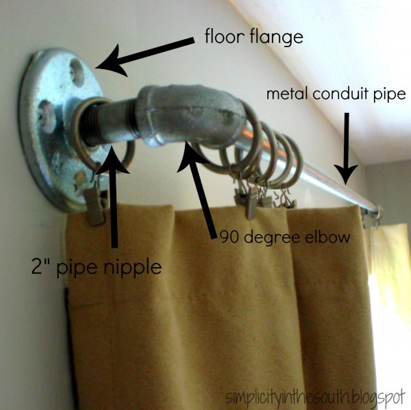 DIY Galvanized Curtain Rods From Plumbing Supplies Simplicity In The