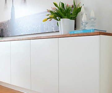 diy floating sideboard feature