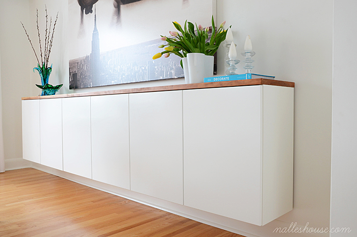 Floating Sideboard Diy Remodelaholic