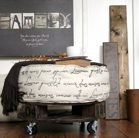 diy ottomans | diy french industrial ottoman, AKA Design