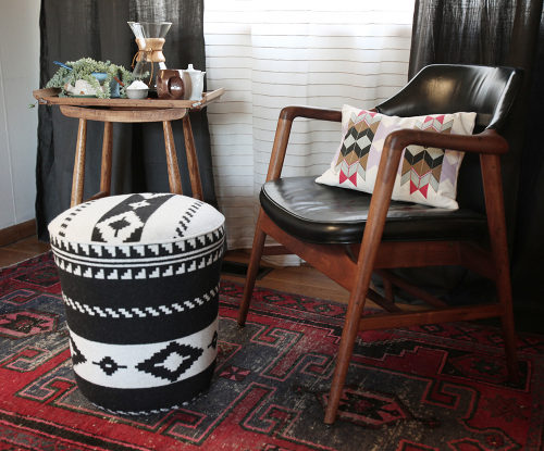 diy ottomans | utility bucket ottoman by revive, Design Sponge
