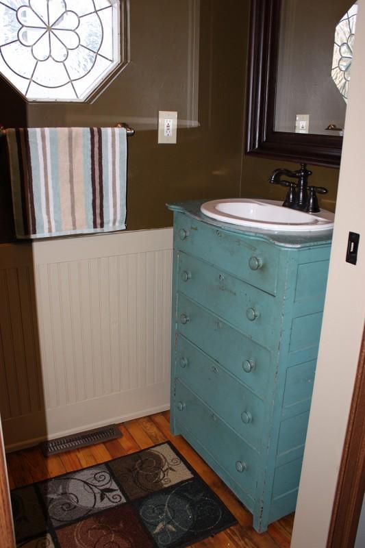 repurposed dresser to bath vanity, More Than 2