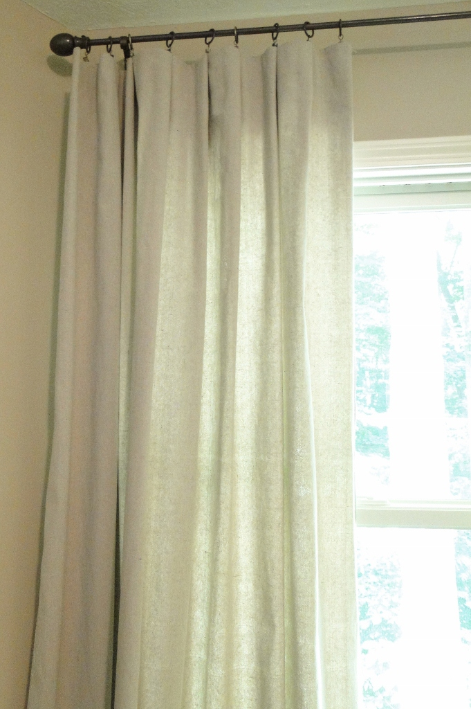 Drop cloth window curtain tutorial salvage savvy on remodelaholic