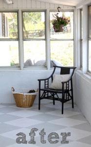 guest painted concrete floor