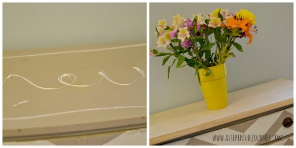 how to attach wood butcher block top to dresser