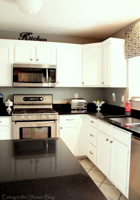 Kitchen Makeover   Beautiful Black Countertops