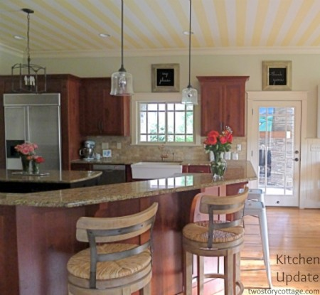 kitchen update without painting the cabinets, Two Story Cottage
