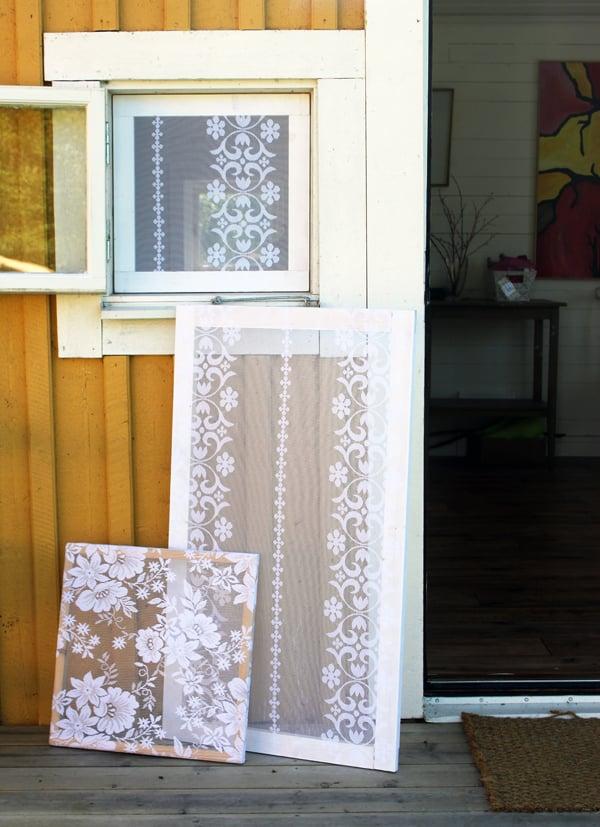 Lace Tablecloth Window Screens | Design Madde