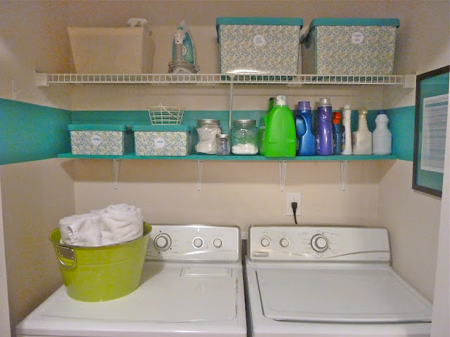 laundry closet painted, Keller Creative