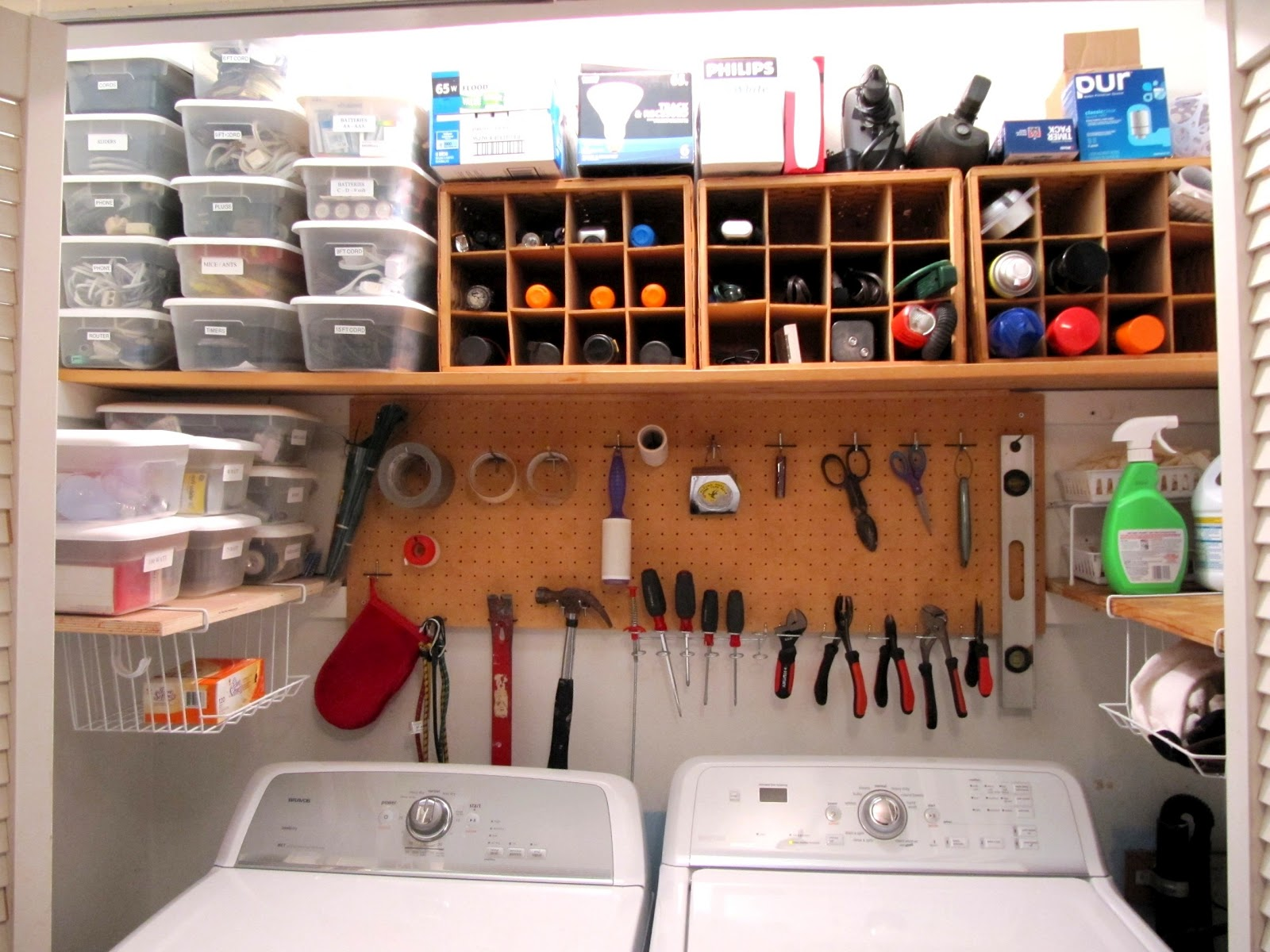 Organized Laundry Space With Tools, Sew Many Ways