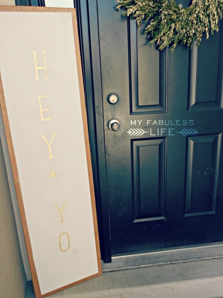 oversized welcome sign for the porch, My Fabuless Life on Craftaholics Anonymous