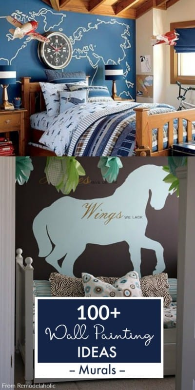 Painted Mural Ideas For Home Interiors From Remodelaholic