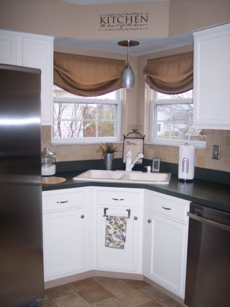 Painting Kitchen Cabinets White, Thrifty Decor Mom Featured On Remodelaholic