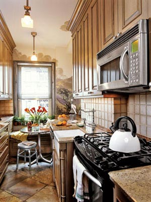 Good small kitchen wood cabinets Country Living
