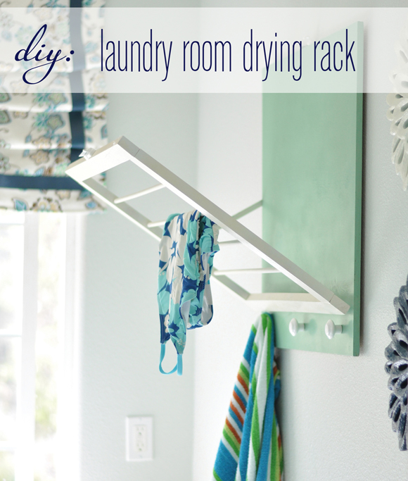 small laundry room - diy drying rack, Centsational Girl