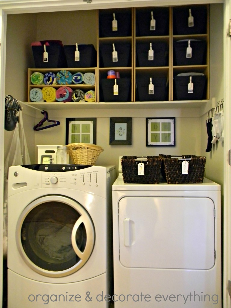 remodelaholic 25 ideas for small laundry spaces. Black Bedroom Furniture Sets. Home Design Ideas