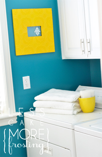 Tiny Laundry Room Makeover With Paint Less Cake More Frosting