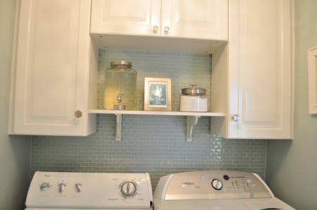 tiny laundry room with shelving, A Touch of Tyrell