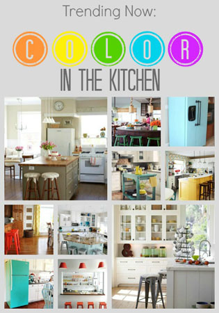 trending color in the kitchen