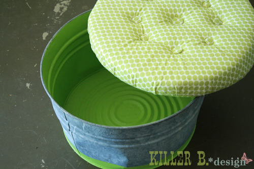 diy ottomans | upholstered bucket storage ottoman, Killer B Designs