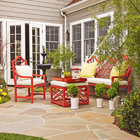 welcoming porch feature