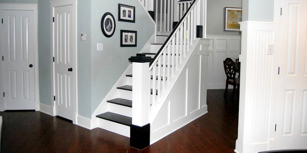 Wonderful Painted Wood Stair Remodel