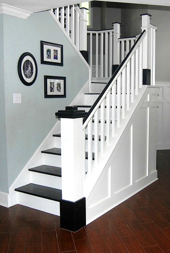 Painted Wood Stair Remodel Remodelaholic